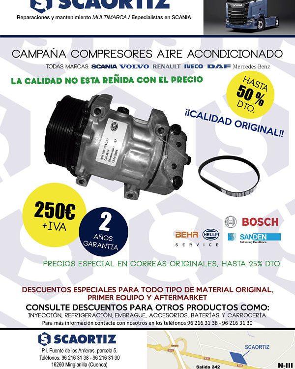 Compresores aire acondicionado oferta SCAORTIZ