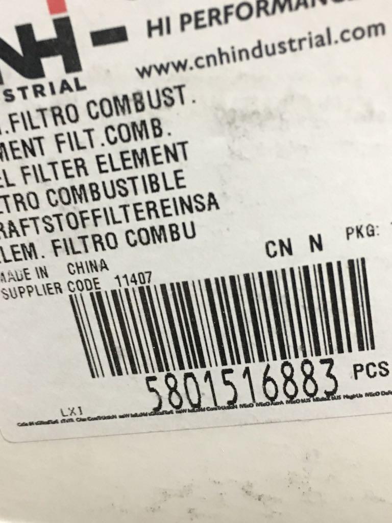 5801516883 Filtro de combustible IVECO en SCAORTIZ - Filtro de combustible IVECO. Referencia 5801516883