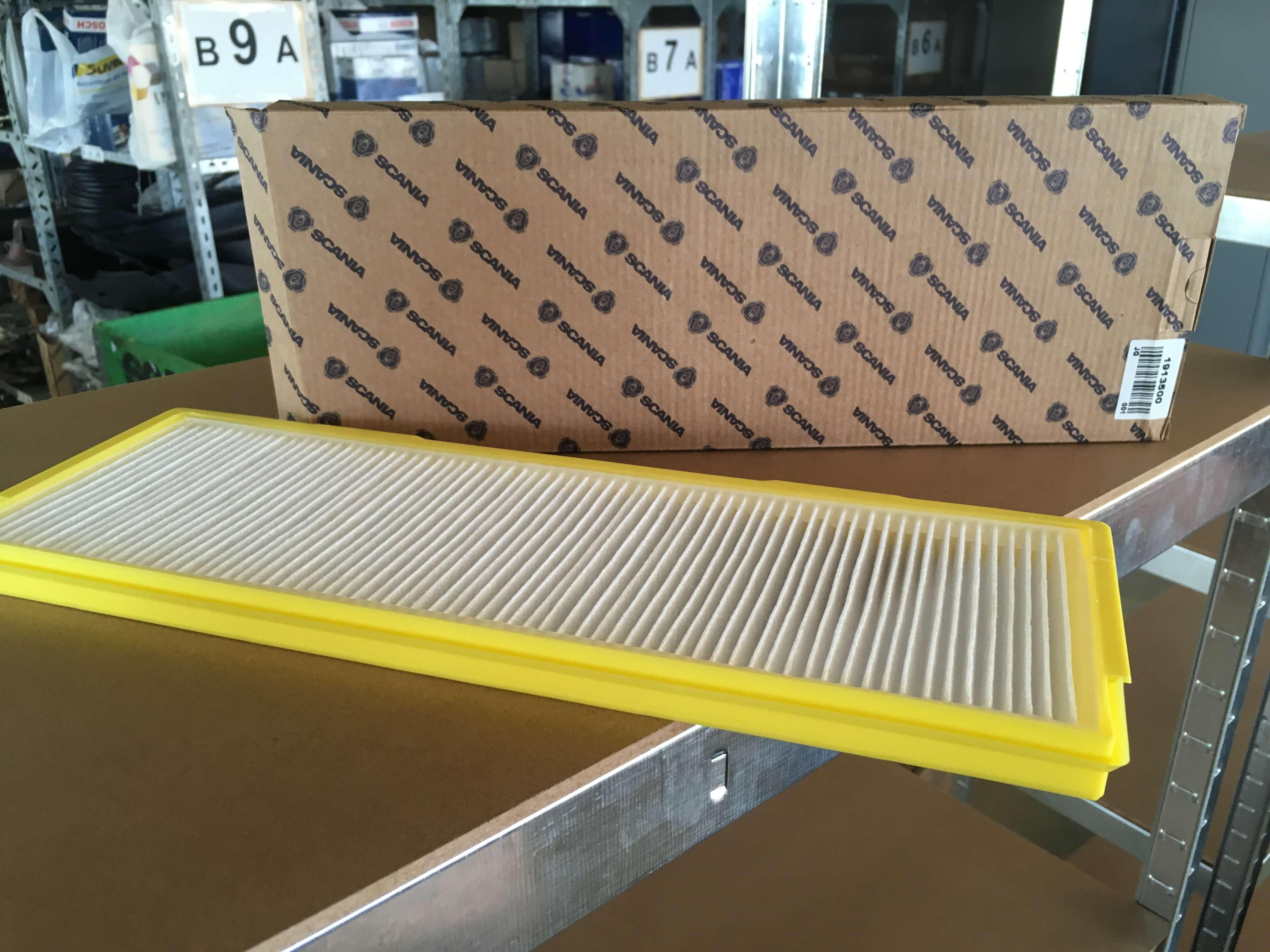 1913500 Filtro de polen SCANIA. Venta de recambios orginales para camión en SCAORTIZ - Filtro de polen SCANIA. Referencia 1913500