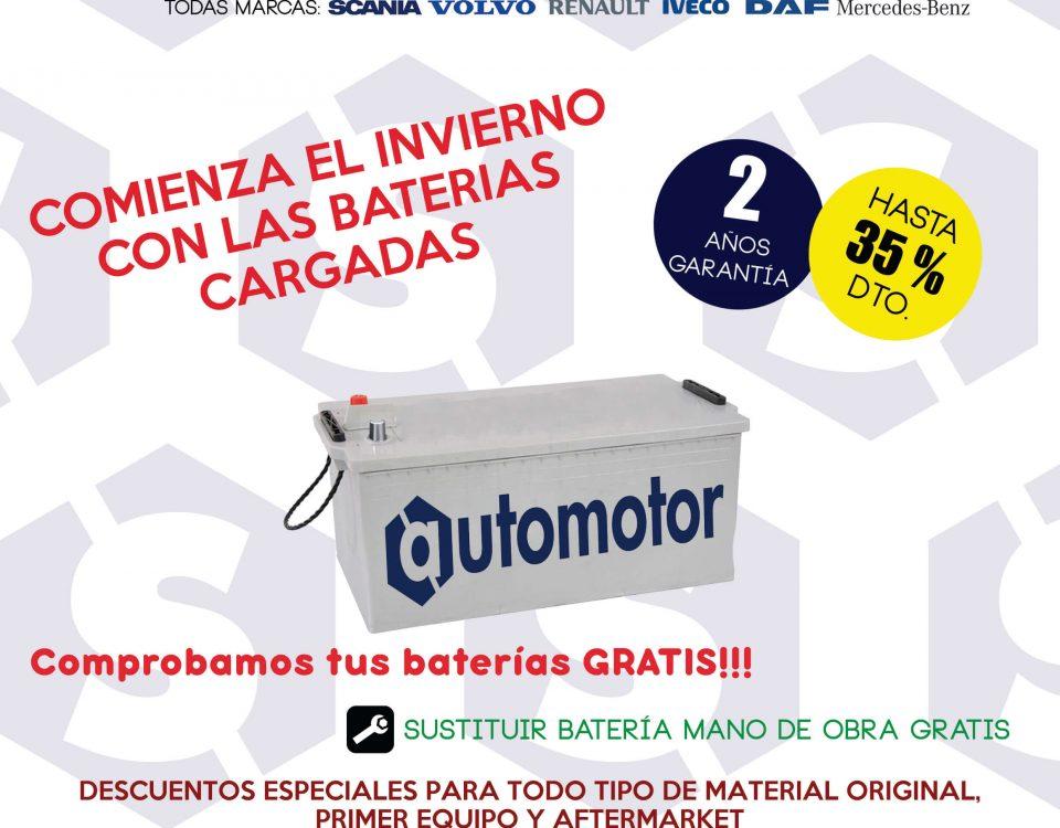 SCAORTIZ campaña de baterías. Venta de recambios para camión y taller en la A3 960x750 - Campaña de baterías para camiones
