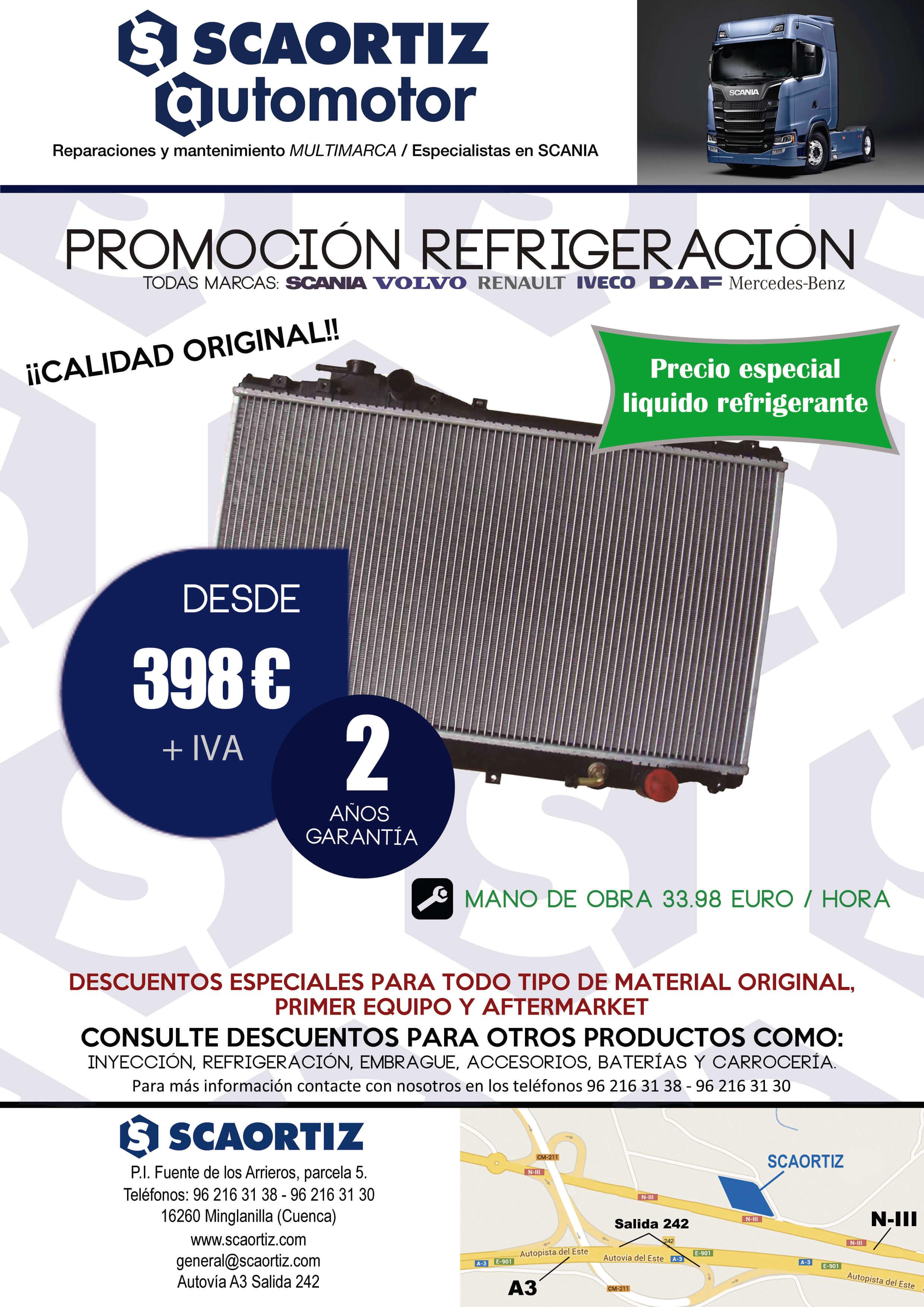 Promoción refrigeración para camiones en SCAORTIZ